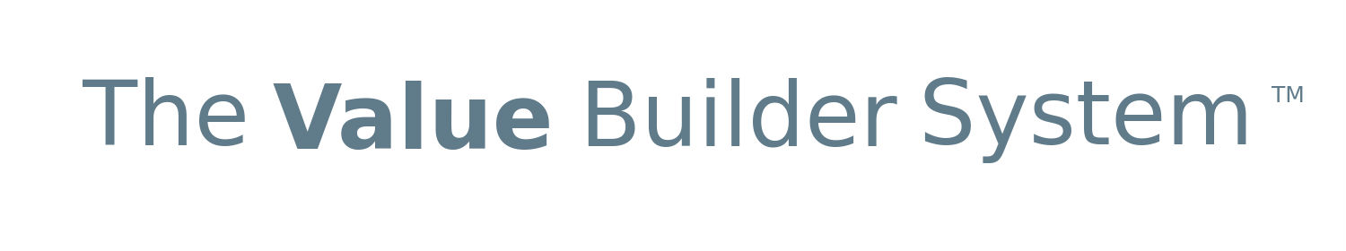 The-Value-Builder-System